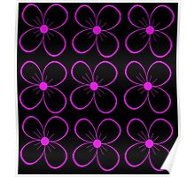 Black and purple flower Poster