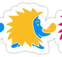 bunt 3 süße kleine niedliche igel wandern team freunde muster design  Sticker