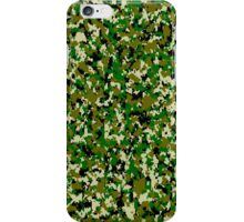 Digital Jungle Camo Pattern iPhone Case/Skin