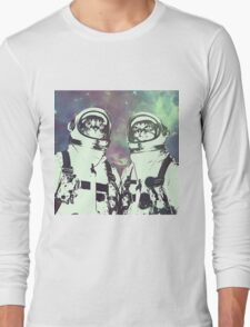 Space Age Catstronauts Long Sleeve T-Shirt