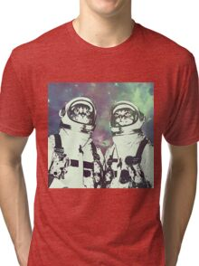 Space Age Catstronauts Tri-blend T-Shirt