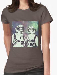 Space Age Catstronauts Womens Fitted T-Shirt