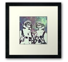 Space Age Catstronauts Framed Print