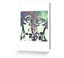 Space Age Catstronauts Greeting Card