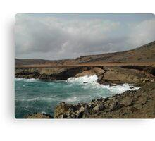 Fallen Natural Bridge of Aruba in the Caribbean Canvas Print