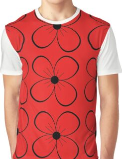 Red and black flowers  Graphic T-Shirt