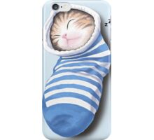 Cat in the sock iPhone Case/Skin