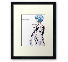 Rei Ayanami Japanese Neon Genesis Evangelion Framed Print