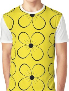 Black and yellow flowers Graphic T-Shirt