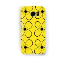 Black and yellow flowers Samsung Galaxy Case/Skin