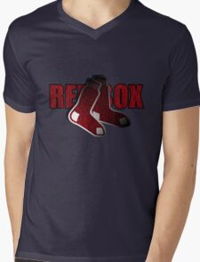 Red Sox Logo Mens V-Neck T-Shirt