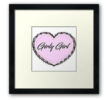 Girly Girl Framed Print