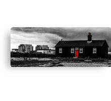 Dark impressions at Dungeness Canvas Print