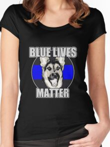 Blue Lives Matter Women's Fitted Scoop T-Shirt