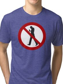 Smartphone Zombies Prohibited Tri-blend T-Shirt