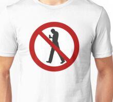 Smartphone Zombies Prohibited Unisex T-Shirt