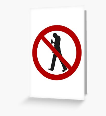 Smartphone Zombies Prohibited Greeting Card