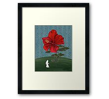 Bunny and Hibiscus Framed Print