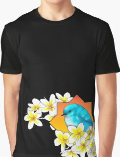 Birdie with frangipani flowers Graphic T-Shirt