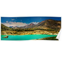 The mountains and the reservoir at Amadorio - Panorama Poster