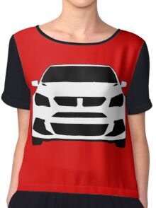 HSV VF GTS Clubsport Front View Design | Tee Shirt / Sticker for Holden Enthusiasts Chiffon Top