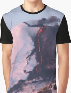 Fractured Volcano Graphic T-Shirt