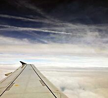 Air Traffic Above The Clouds by Bine