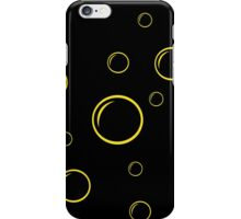 Black and yellow bubbles iPhone Case/Skin