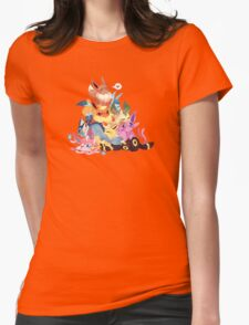 Cute Eevee Pile. Pokemon Womens Fitted T-Shirt