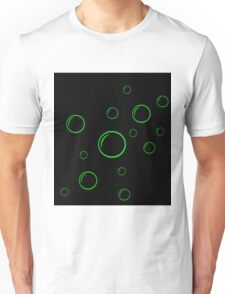 Green and black  bubbles Unisex T-Shirt