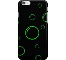 Green and black  bubbles iPhone Case/Skin