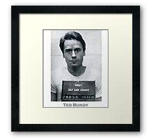 Ted Bundy Serial Killer Mugshot Framed Print