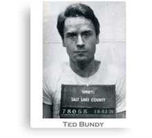 Ted Bundy Serial Killer Mugshot Canvas Print