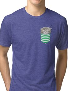 Cat in the pocket Tri-blend T-Shirt