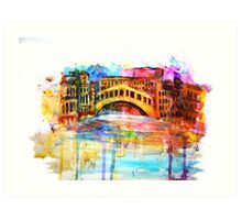 Venice Abstract Art Print