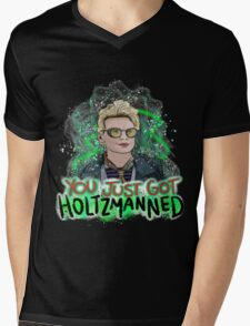 You Just Got Holtzmanned Ghostbusters Mens V-Neck T-Shirt