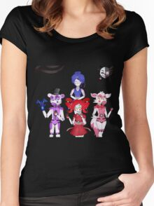 FNAF Sister Location Gang Women's Fitted Scoop T-Shirt