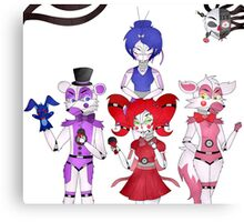 FNAF Sister Location Gang Canvas Print