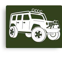 Jeep JK Wrangler Touring Spec:  Sticker / Tee - White Canvas Print