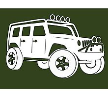 Jeep JK Wrangler Touring Spec:  Sticker / Tee - White Photographic Print
