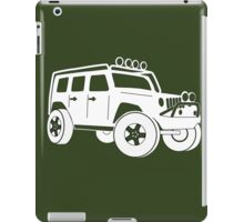 JK Jeep Wrangler Tourer Spec Front 3/4 Apparel | Tee Shirt, Hoodies & More - White iPad Case/Skin