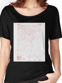 USGS TOPO Map Alaska AK Christian B-3 354963 1990 63360 Women's Relaxed Fit T-Shirt