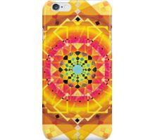 Here Comes the Sun ( sun salutation mandala) iPhone Case/Skin
