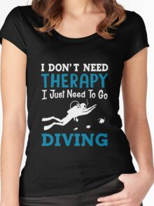 Diving Women's Fitted Scoop T-Shirt