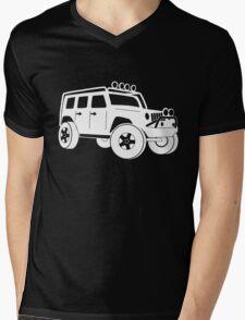 Jeep JK Wrangler Touring Spec:  Sticker / Tee - White Mens V-Neck T-Shirt