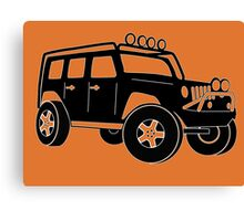 JK Jeep Wrangler Tourer Spec Front 3/4 Apparel   Tee Shirt, Hoodies & More - Black Canvas Print