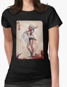 Lil Girl but Big Psycho Womens Fitted T-Shirt