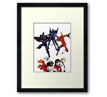 Neon Genesis Evangelion Eva's/Characters Framed Print