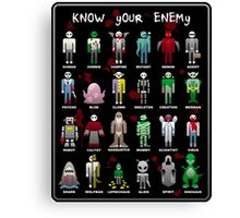 Know Your Enemy - Horror/Sci-Fi/Fantasy Creatures Canvas Print