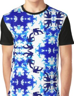Snowboarder Jump Bright Blue Ice Sky Air Snowboarding Sport Graphic T-Shirt